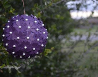 Paper Flower Kissing Ball - Wedding Decorations - Wedding Shower - Flower Pomander - Kissing Balls - Kissing Ball Centerpieces - Pomander