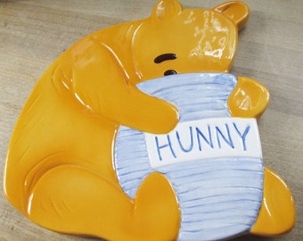 "Vintage Retro Treasure Craft - Disney's Winne the Pooh Trivet - ""Hunny""  - mint in box - Estate find!"