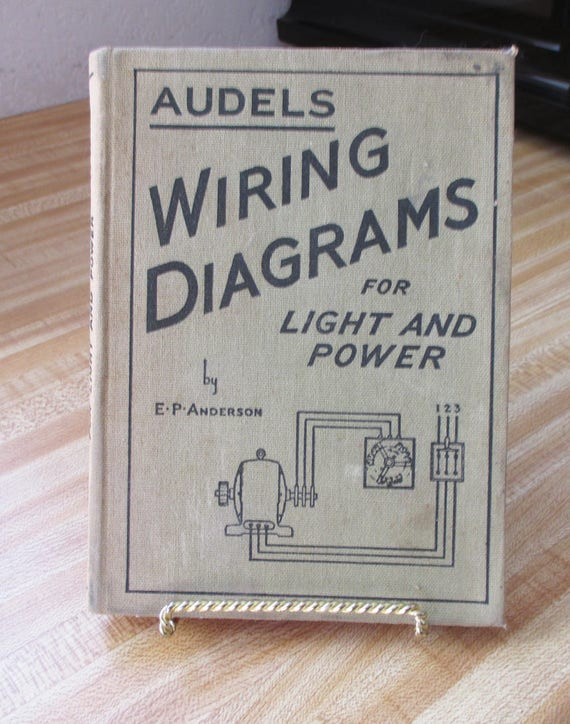 Vintage, 1939 Antique Book - Audels Wiring Diagrams for Power and LIght on