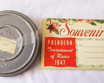 1947 - 1948 Souvenir Post Card Packet and 8 mm film of Rose Parade - Estate find!