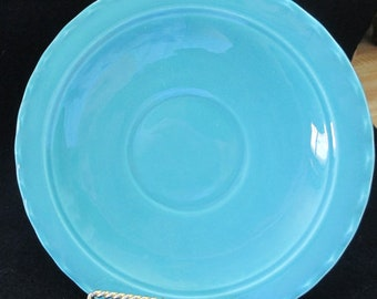Vintage,Early California Pottery, Coronado Pottery .- Franciscan - saucer  - Turquoise - Estate find