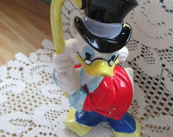 Walt DIsney Prod. Scrooge Duck figurine from first off park distributor's own bakery shop - one of over 150 figuines never displayed-estate!