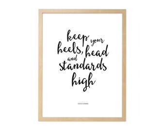 Fine art print · Coco Chanel quote · DIN A4
