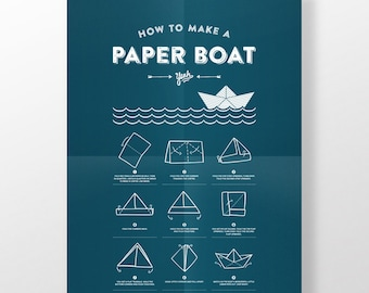 Poster · Paper boat · DIN A3