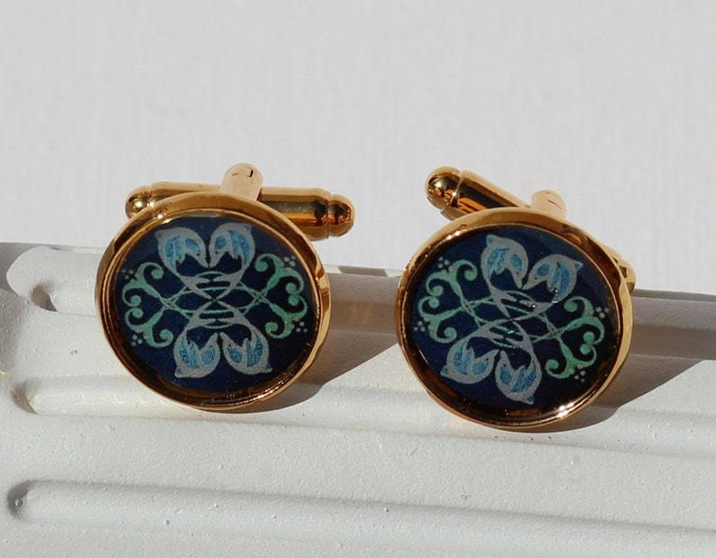 Dolphins /& Doves Cuff Links no 3-910 Dolphin Love artistic designer art jewelry peace love harmony
