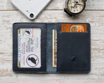 personalized leather wallet minimalist wallet for men leather card wallet slim wallet for him bifold wallet leather small wallet pocket