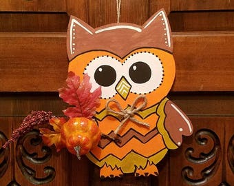 Hand Painted Wooden Owls