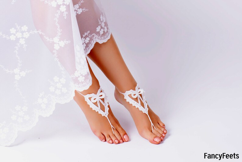 Descalzos Ganchillo HonorPies SandaliasTobillerasBodaBoda Zapatos De Dama En Sandalias Blanco DescalzasJoyeríaAccesorios PlayaVerano xhrQBtsdC