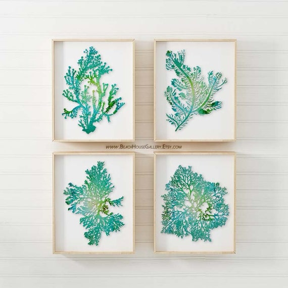 Teal Bathroom Art Teal Beach Bathroom Turquoise Home Decor Etsy