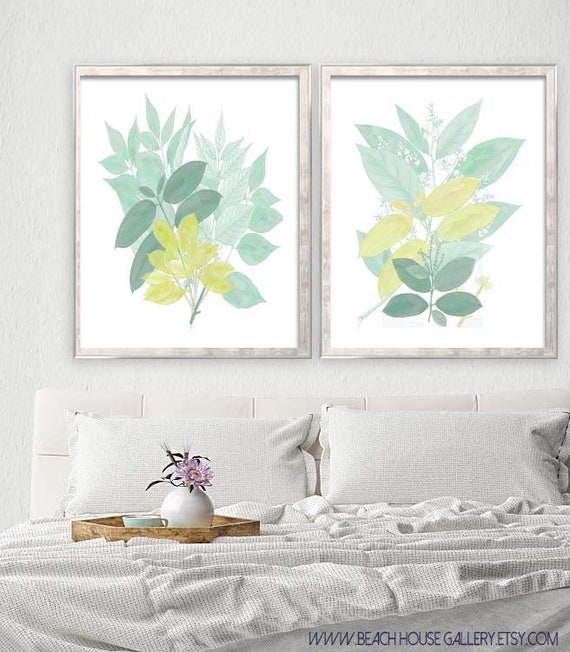 Seafoam Wall Art Sage Green Living Room Art Seafoam Green | Etsy