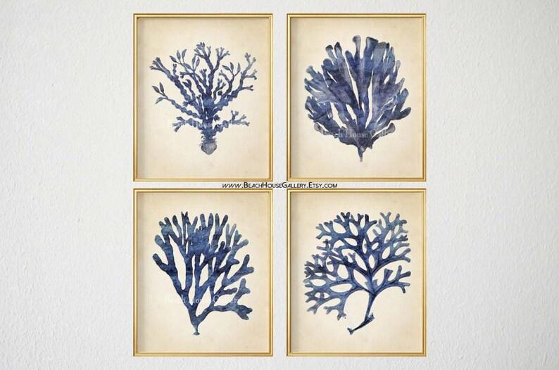 Indigo Blue White Hamptons Style Moroccan Pattern Poster ...  |Hampton Style Indigo