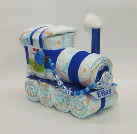 Windeltorte Windelkinderwagen blau
