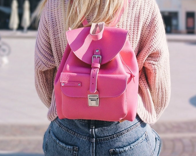 Pink backpack, Summer Bags, Summer Backpack, Pink bag, Fashion Backpack, Summer Love, FREE SHIPPING