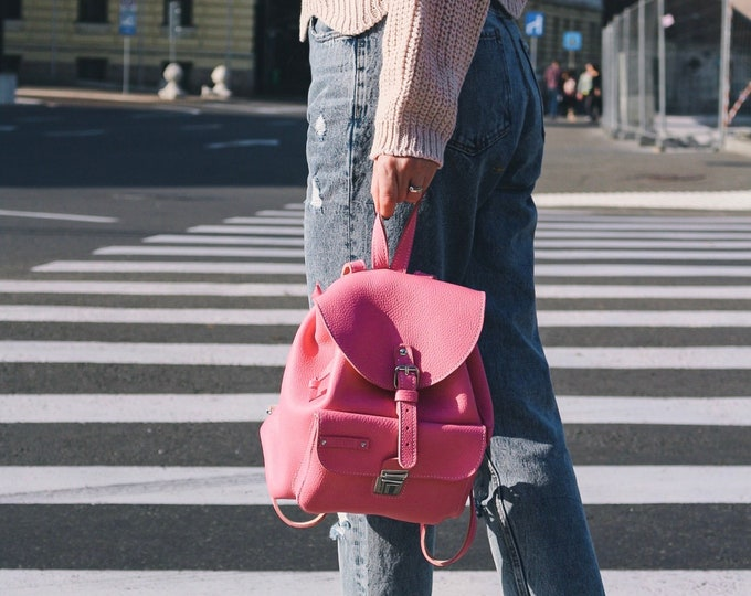 Message Backpack, Dusted Pink backpack, Summer Bags, Summer Backpack, Dusted Pink bag, Fashion Backpack,