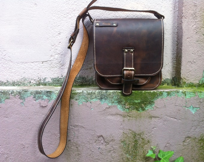 Man Leather Bag, Leather Crossover Bag, Cross Body Bag, Viorel Cross Over Bag, Man Bag, Man Travel Bag, City Bags, Handmade Bags, FREE Shipp