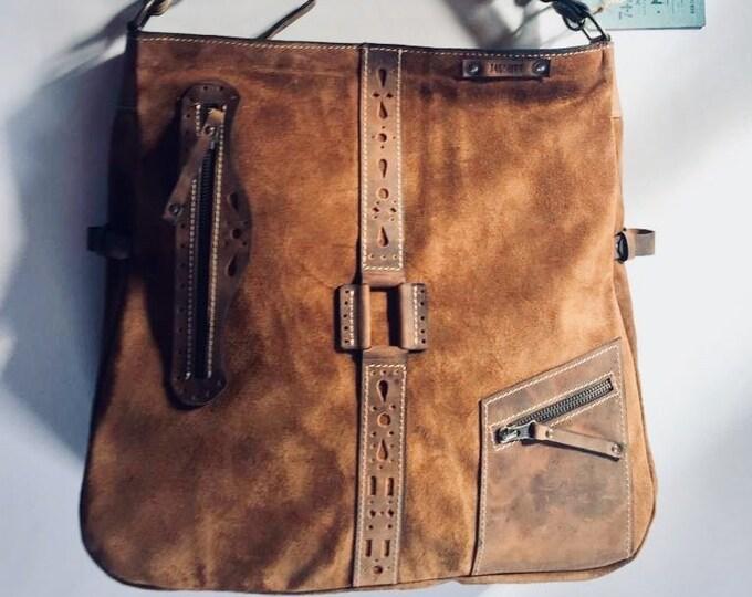 15 inch Ethno Leather Laptop Shoulder Bag,Etno Handmade Bag, Genuine leather Messenger Bag, Office bag, Laptop Leather bag, FREE SHIPPING