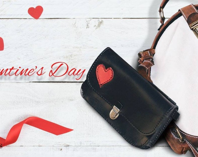 Valentine's Gigt Set for HER: Waist Bag and White Metal Framed Leather Messenger Bag, FREE SHIPPING