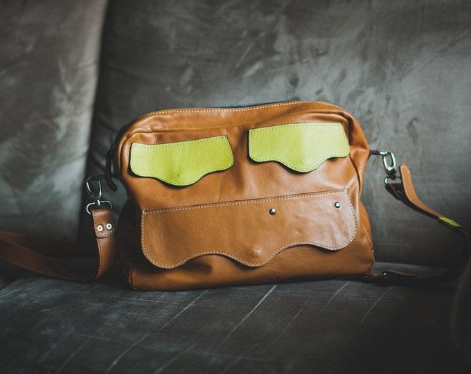 Messenger Leather Bag, Leather Bag, Zippered Bag, Shoulder bag, Tote Bag, Full Grain leather bag, Luzury Messenger Bag,