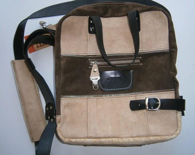 Medium size leather Bag, Full Grain Leather Handmade Bag,13 inch Laptop bag,Leather Laptop Bag, Tote Bag,School Bag, FREE SHIPPING