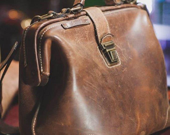 Gladstone Bag, Luxury Leather Bag, Doctor Bag, Leather Bags, Top Handle bag, Leather Doctor bag, Leather Messenger Bag, Mary Poppins Bag