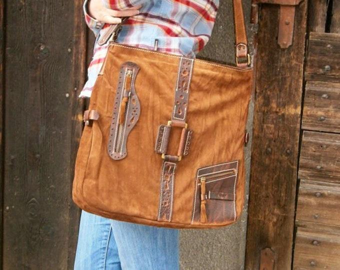 17 inch Leather Laptop Shoulder Bag,Etno Handmade Bag, Genuine leather Messenger Bag, Office bag, Laptop Leather bag, FREE SHIPPING