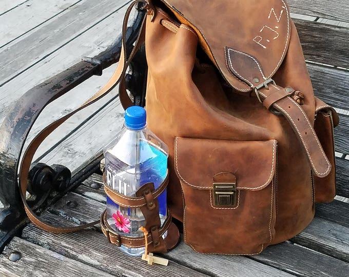 Large Backpack 40cm/24cm/22cm Leather Backpack, BackPack, School BackPack, school rucksack,Handmade Man BackPack, Overnight bag