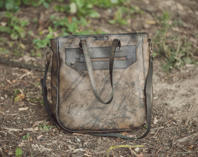 Distressed finishing Man Tote bag, Man Shoulder Bag, Unisex Tote Bag, Unisex Cross body Ba