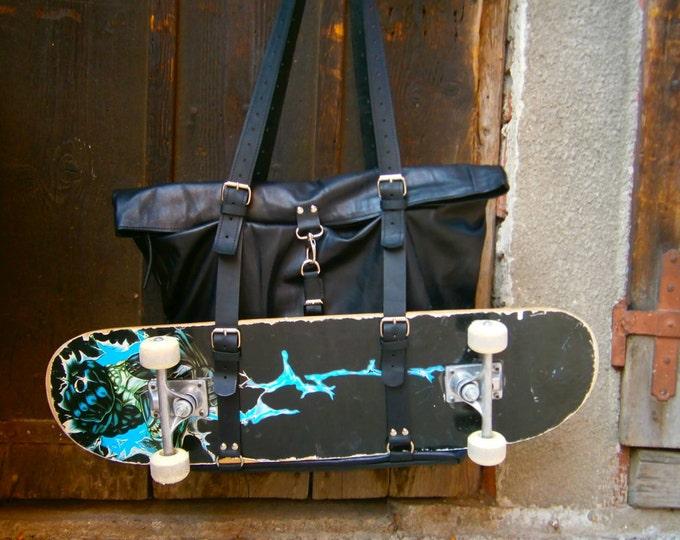 Skater's Leather Bag, Laptop Bag, Student;s bag, Handmade genuine Leather Bag,Leather Bag, Man Bag, Man Tote Bag,Shoulder Bag