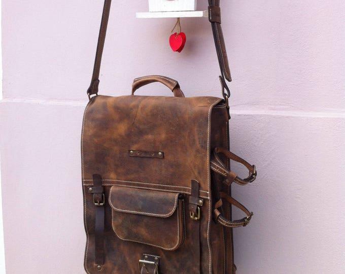 Secret Pocket Bag, Leather Bag, Safety Bag, Leather Laptop Briefcase, Handle bag, Leather Messenger Bag, Office Briefcase, LIFETIME BAG