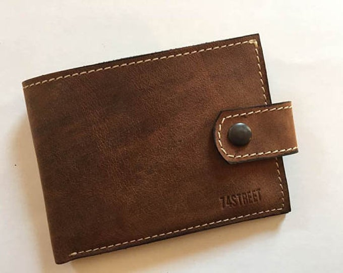Personalized Gillian's Wallet, Handmade wallet, Handmade genuine leather wallet, unisex wallet, wallet for woman, best man
