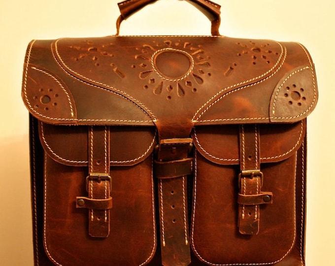 Transilvania Genuine Leather Bag, Laptop Briefcase, Ofiice Handmade Bag, made to order handmade briefcase, FREE SHIPPING