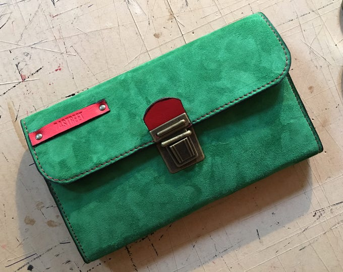 Leather wallet, Phone wallet, Lipstick wallet, Woman leather organiser,oversized ladies wallet,gift for her, birthday gift