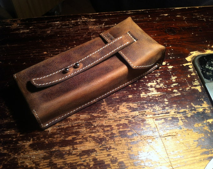 Cigarillo Cigar Holder, Cigar Holder, Cigar Leather Case, Handmade, Made tp order, Leather Cigar Holder, FREE SHIPPING