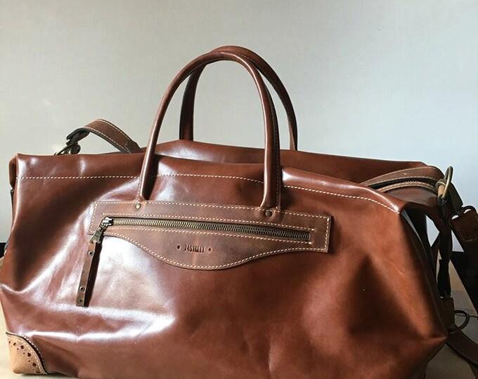Luxury Sports Bag, Plane Travel Bag, GYM bag, Travel Leather Bag, Overighter Bag, Weekender Bag, Tote Bag. Shoulder Bag, FREE SHIPPING