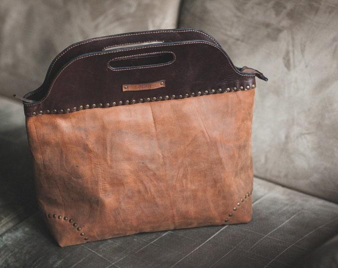 City Doctor Bag, Full Grain Leather Bag, Large Leather Bag, Hand Leather Bag, Hand Bag, Office Bag