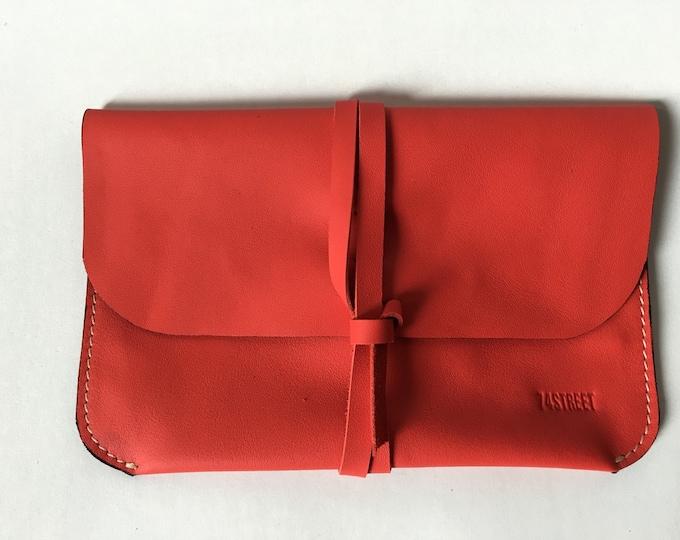 Red Leather Clutch, Day Clutch, Evening Clutch, Leather Purse, Woman Purse, Evening purse