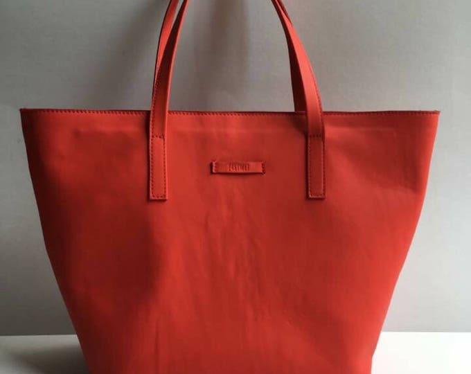 Red Bag,15 inch laptop bag, Tote Bag, Red Leather Bag, Handmade Office Bag, Leather Shoulder Bag,