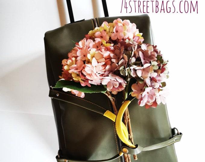 Low cost flight airlines74street Leather Troller,holiday Genuine Leather Trolley, Luggage,Custom order par avion trolley bag, LIFETIME BAG