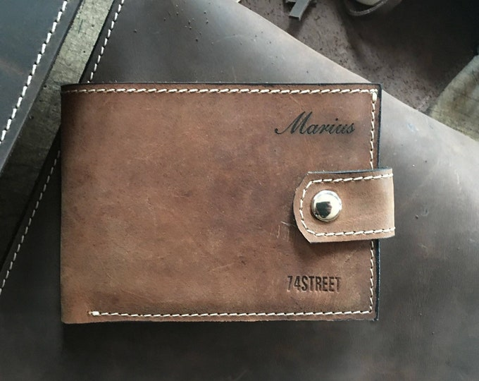 Personalized Gillian's Wallet, Handmade wallet, Handmade genuine leather wallet, unisex wallet, wallet for woman, best man, FREE SHIPPING