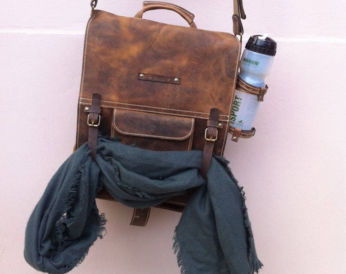 Secret Pocket Bag, Leather Bag, Safety Bag, Leather Laptop Briefcase, Handle bag, Leather Messenger Bag, Office Briefcase,