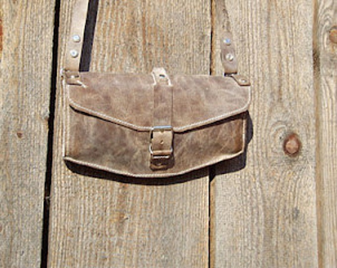 Cross body Bag, genuine Leather Clutch, Leather purse, Cocktail purse, Handmade purse, made to order purse, brown purse