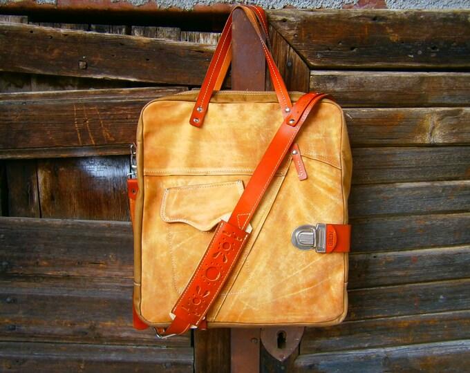 Leather Bag, Brushed Genuine Leather Bag, Genuine Leather Handmade Bag, Laptop bag,Custom Bag, Office bag, Tote Bag, FREE SHIPPING