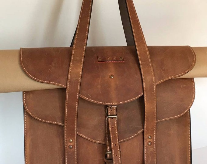Landscape Designer Large XXL Bag, Handmade Full Grain Leather Shoulder Bag, Projects Briefcase, LIFETIME BAG