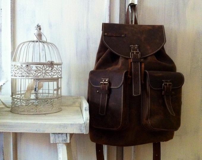 Large Backpack 46cm / 31cm/ 20cm Leather Backpack, BackPack,School BackPack,school rucksack, Handmade Man BackPack, Overnight