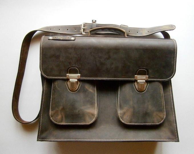 Luxury 15 inch laptop bag, Mr.Jones's Leather Briefcase, Vintage Genuine Leather Messenger Bag, Office Bag, Man Briefcase, LIFETIME BAG
