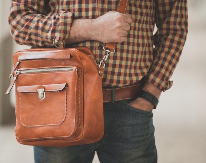James B Overnight travel bag in Full Grain Vachetta Tan Leather Bag,  travel Bag, Business overnight bag, travel bag, FREE SHIPPING
