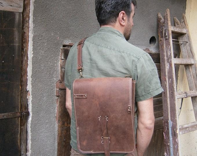 15inch banduliera laptop bag, Man Leather Baag, Student's Bag, school bag, Vertical Laptop Bag, Handmade Laptop Bag, FREE SHIPPING