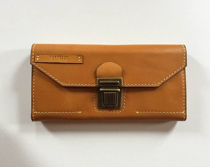 Leather woman wallet, Organiser wallet, leather organiser,oversized  ladies wallet,gift for her, birthday gift, Honey Clutch