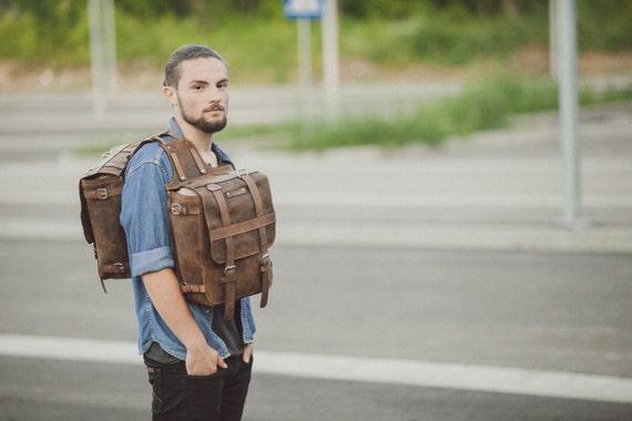 Saddle Bag, Full Grain Saddle Bag, two bags in one, shoulder Saddle Bag, Double saddle bag, Motorcycle saddle bag