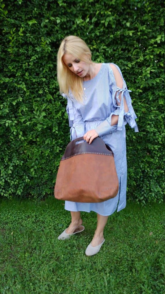 City Doctor Bag, Full Grain Leather Bag, Large Leather Bag, Hand Leather Bag, Hand Bag, Office Bag,